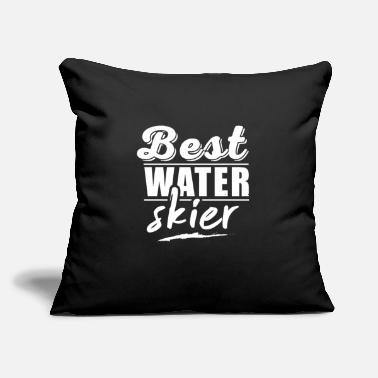 "Water Skiing Water Ski Water Ski Water Ski Water Ski - Throw Pillow Cover 18"" x 18"""