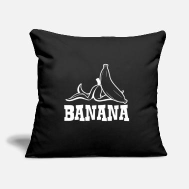 "Banana Banana - Banana - Throw Pillow Cover 18"" x 18"""