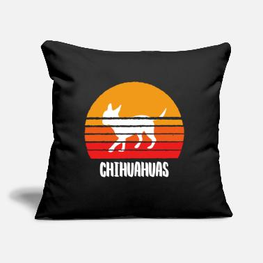 "Civava CHIHUAHUAS T-SHIRT Men And Women - Throw Pillow Cover 18"" x 18"""
