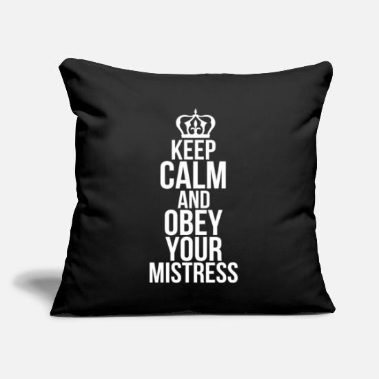 "Sex Bomb Pillow Cases - sex eroticism bdsm bitch woman dirty sayings - Throw Pillow Cover 18"" x 18"" black"