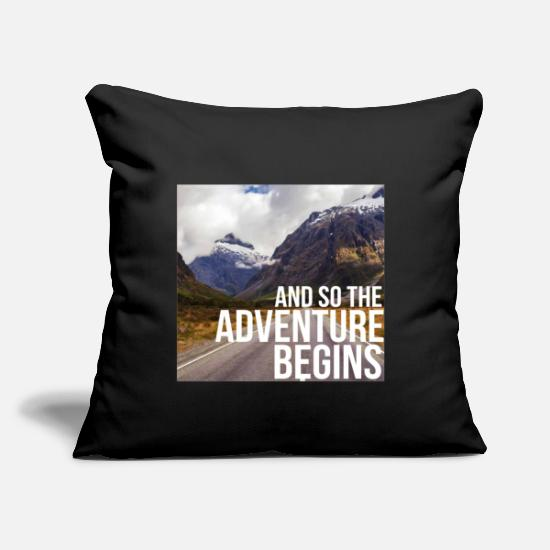 "Alps Pillow Cases - mountaineer mountaineering mountaineering hiking - Throw Pillow Cover 18"" x 18"" black"