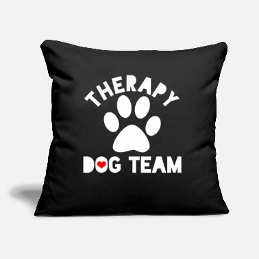 "Therapy Dog Therapy - Throw Pillow Cover 18"" x 18"""