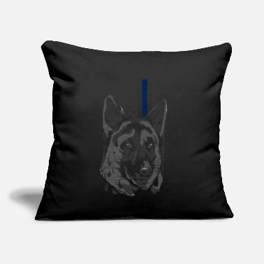 "Police Dog Police Police Dog - Throw Pillow Cover 18"" x 18"""