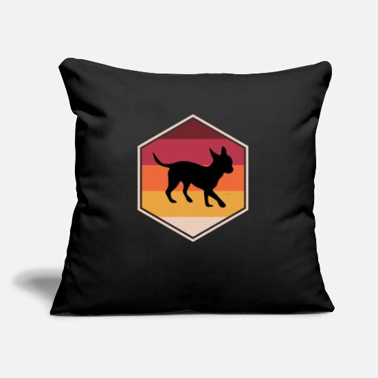 "Animal Rights Activists Pillow Cases - Unique Chihuahua Present Idea For Boys - Throw Pillow Cover 18"" x 18"" black"