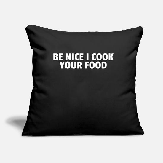 "Birthday Pillow Cases - Cooking Cook Gastro Kitchen Food Chef Gift - Throw Pillow Cover 18"" x 18"" black"