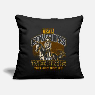 "Cowboy Desert - Throw Pillow Cover 18"" x 18"""