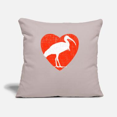 "Wood Ibis Heart For Ibis - Throw Pillow Cover 18"" x 18"""