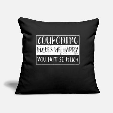 "Coupons Couponing - Throw Pillow Cover 18"" x 18"""
