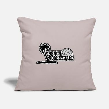 "Beach Volleyball Beach Volleyball beach - Throw Pillow Cover 18"" x 18"""