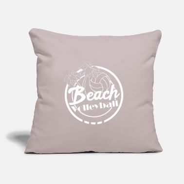 "Beach Volleyball Beach volleyball beach Beach - Throw Pillow Cover 18"" x 18"""