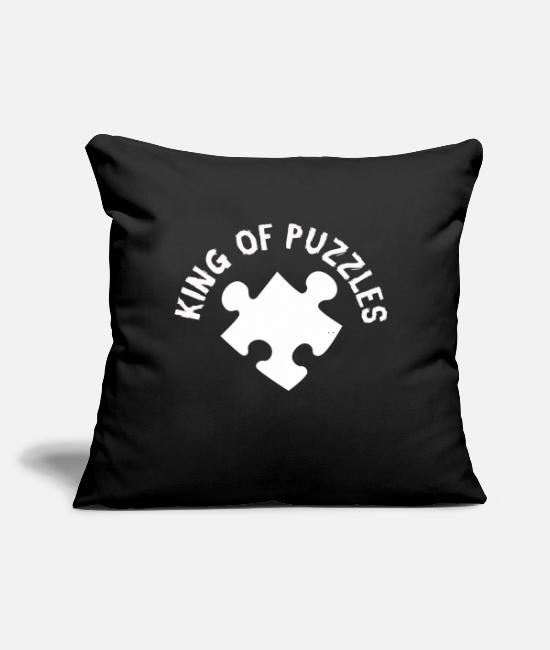 "Pattern Pillow Cases - Puzzle - Throw Pillow Cover 18"" x 18"" black"