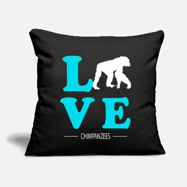 "Chimpanzee Chimpanzee - Throw Pillow Cover 18"" x 18"""