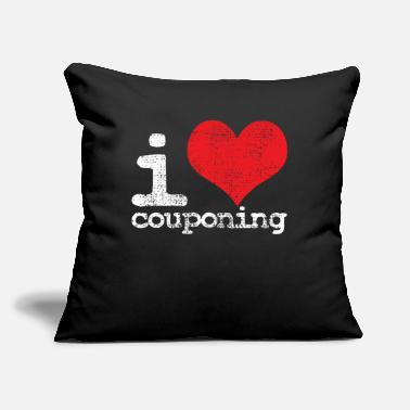 "Coupon Couponing Couponing - Throw Pillow Cover 18"" x 18"""