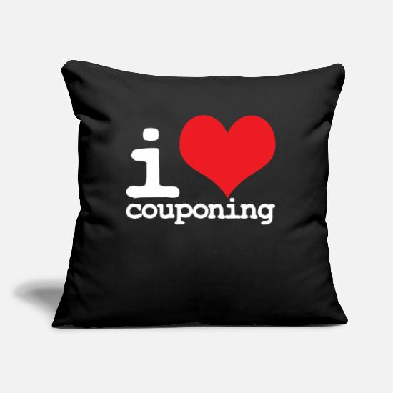 "Collector Pillow Cases - Couponing - Throw Pillow Cover 18"" x 18"" black"