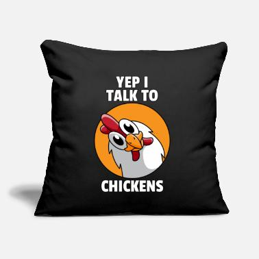 "Funny Chicken Chicken Whisperer Lovers Funny Farmer Farming Gift - Throw Pillow Cover 18"" x 18"""