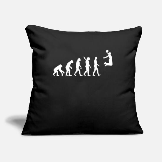 "Basket Pillow Cases - Basketball Evolution - Throw Pillow Cover 18"" x 18"" black"