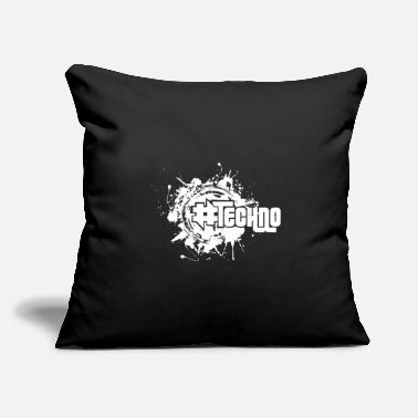 "Rave Techno - Music - # techno # - Throw Pillow Cover 18"" x 18"""