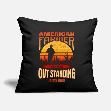 "Funny Farmer Quotes Funny Farmer - Throw Pillow Cover 18"" x 18"""