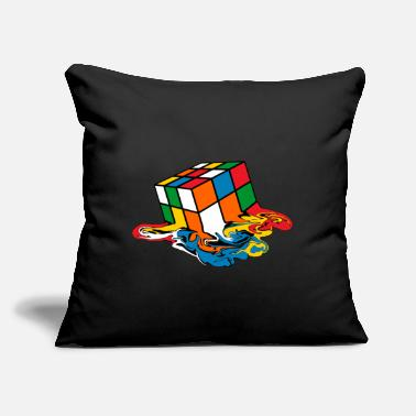 "Melting Rubik's Cube Toy - Throw Pillow Cover 18"" x 18"""