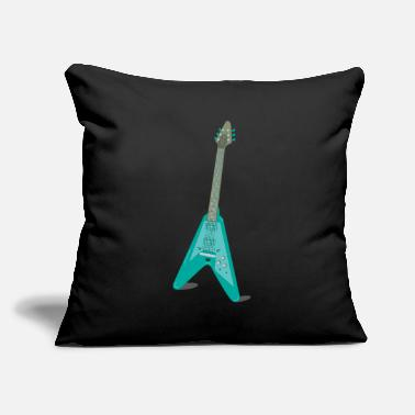 "Rock Guitar Rock Guitar - Throw Pillow Cover 18"" x 18"""