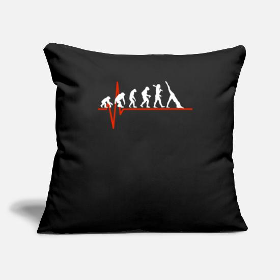 "Dance Pillow Cases - Pilates Heartbeat - EVOLUTION OF PILATES - Throw Pillow Cover 18"" x 18"" black"
