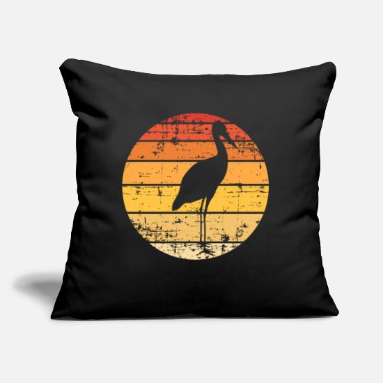 "Gift Idea Pillow Cases - Stork Silhouette - Throw Pillow Cover 18"" x 18"" black"