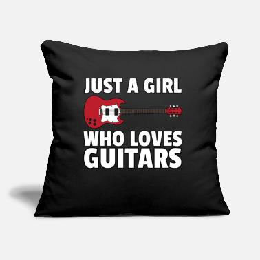 "Eguitar music guitar eguitar guitarist musician play gift - Throw Pillow Cover 18"" x 18"""