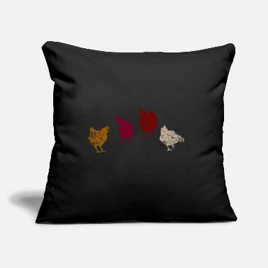 "Chickens Chicken Chickens - Throw Pillow Cover 18"" x 18"""
