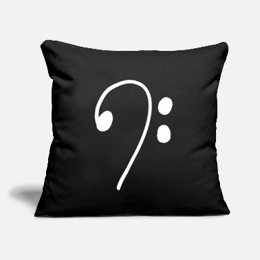 "Clef clef heartbeat guitar Music Teacher Student Gift - Throw Pillow Cover 18"" x 18"""