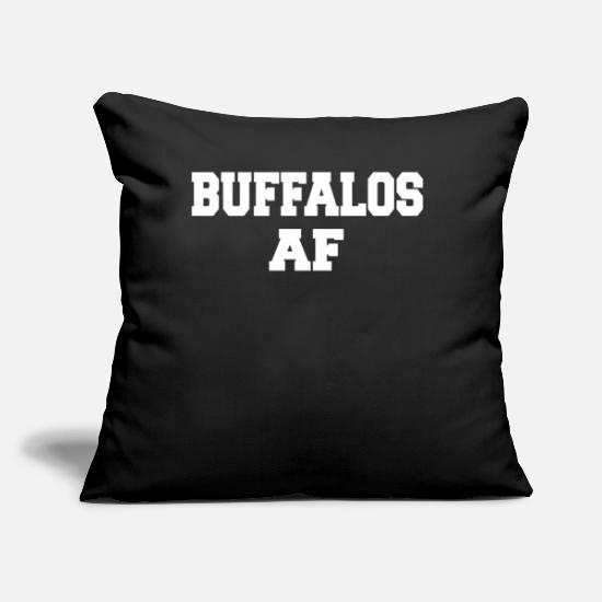 "Animal Rights Activists Pillow Cases - BUFFALOS AF - Throw Pillow Cover 18"" x 18"" black"