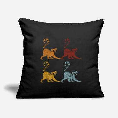 "Madagascar Lemur Animal - Throw Pillow Cover 18"" x 18"""
