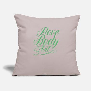 "Tatoo Tatoos Art - Throw Pillow Cover 18"" x 18"""