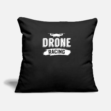 "Racing Flying Race Drone Racing FPV Race - Throw Pillow Cover 18"" x 18"""