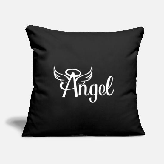"Angelwings Pillow Cases - Angel angel with wings - Throw Pillow Cover 18"" x 18"" black"