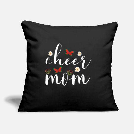 "Mummy Pillow Cases - cheer mom t shirts - Throw Pillow Cover 18"" x 18"" black"