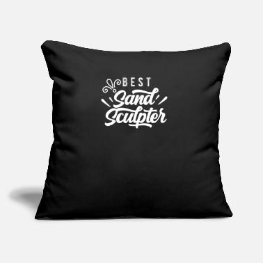 "Sand Build Sand Sculpter Sandcastle Sand Sculpting Sand - Throw Pillow Cover 18"" x 18"""