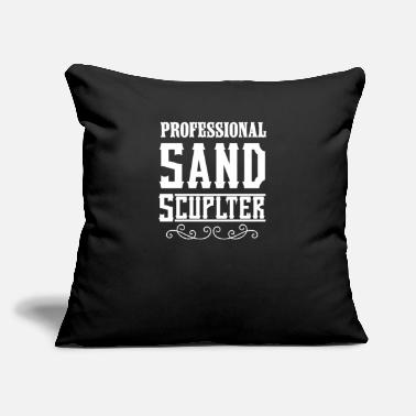 "Sand Sand Sand Sculpting Sandcastle Sand Sculpter Build - Throw Pillow Cover 18"" x 18"""