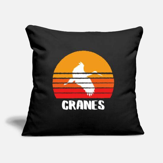"Animal Rights Activists Pillow Cases - CRANES TEE SHIRT Men And Women - Throw Pillow Cover 18"" x 18"" black"
