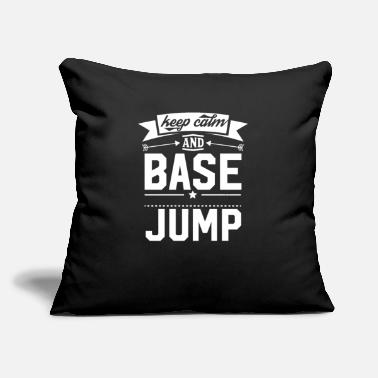 "I Love Basejump Base Jump Base Jumping Base Jumper Sports - Throw Pillow Cover 18"" x 18"""