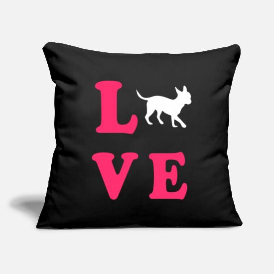 "Animal Rights Activists Pillow Cases - Chihuahua Love - Throw Pillow Cover 18"" x 18"" black"