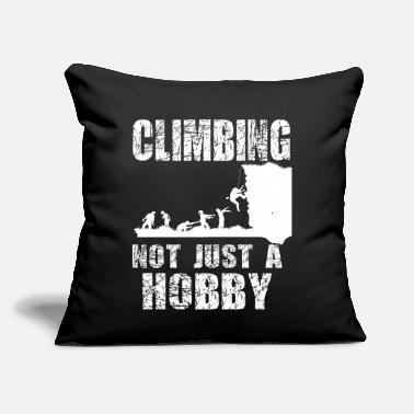 "Zombie Climber Climbing Zombie Halloween Funny Gift - Throw Pillow Cover 18"" x 18"""