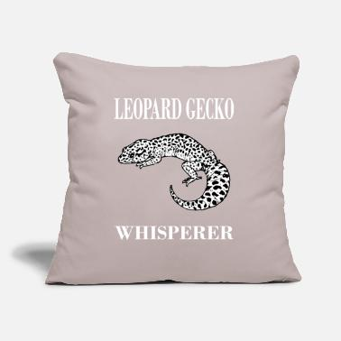 "Leopard Creative Leopard Gecko Tshirt For Men And Women - Throw Pillow Cover 18"" x 18"""