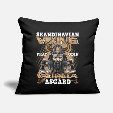 "Mythology Scandinavian Viking Valhalla Norse Fan Gift - Throw Pillow Cover 18"" x 18"""