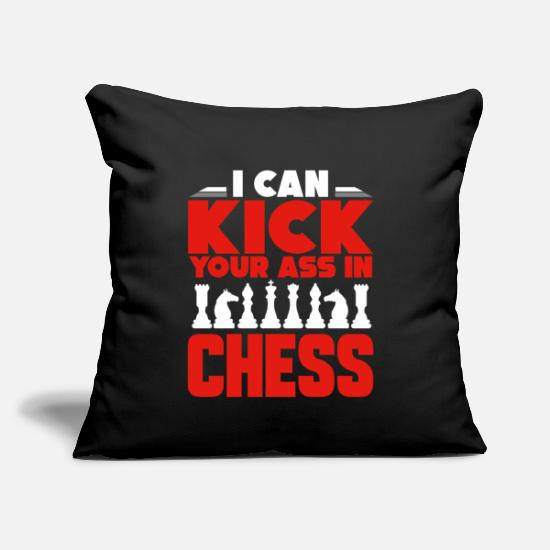 "Chess Pillow Cases - chess chess player - Throw Pillow Cover 18"" x 18"" black"