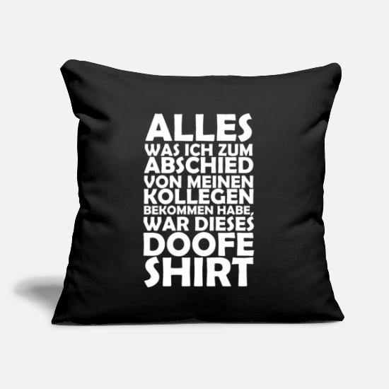 "Office Humor Pillow Cases - Parting gift colleagues - gift for colleagues - Throw Pillow Cover 18"" x 18"" black"