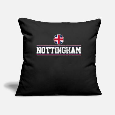 "Nottingham Flag Nottingham - Throw Pillow Cover 18"" x 18"""