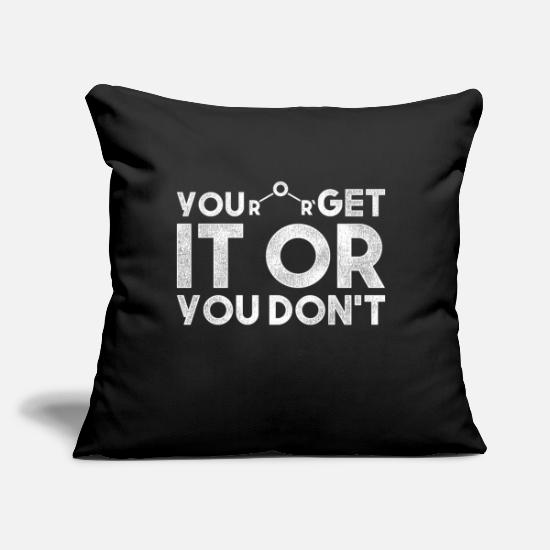"Chemistry Pillow Cases - Chemistry Attractive forces - Throw Pillow Cover 18"" x 18"" black"
