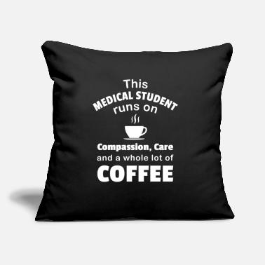 "Student Medical Student Coffee Lover School Care Doctor - Throw Pillow Cover 18"" x 18"""
