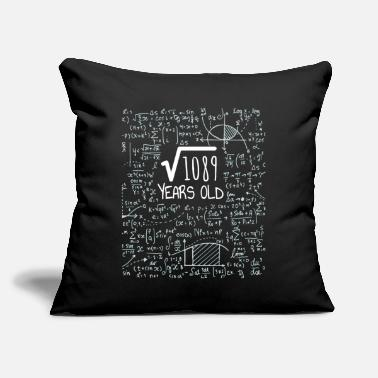"Nerdy Square Root of 1089 - 33rd Birthday Geek Design - Throw Pillow Cover 18"" x 18"""