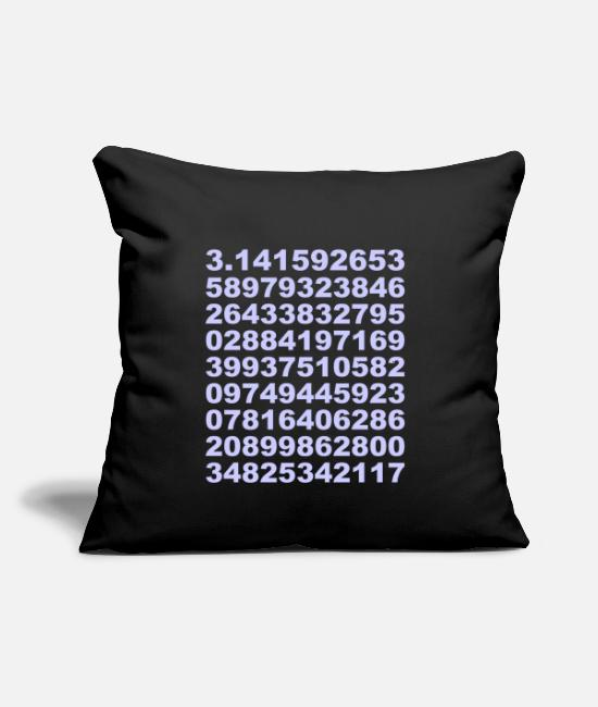 "Geometry Pillow Cases - Pi - Throw Pillow Cover 18"" x 18"" black"